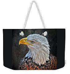 Weekender Tote Bag featuring the photograph American Bald Eagle by Savannah Gibbs