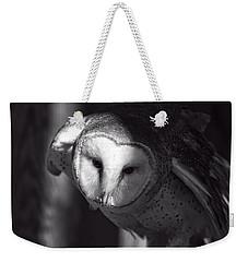American Barn Owl Monochrome Weekender Tote Bag