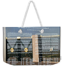 American Battle Monuments Commission Weekender Tote Bag by Travel Pics