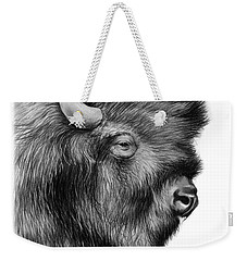 American Bison Weekender Tote Bag by Greg Joens