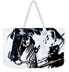 American Black And White Paint  Weekender Tote Bag