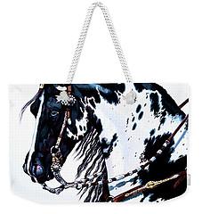 American Black And White Paint  Weekender Tote Bag