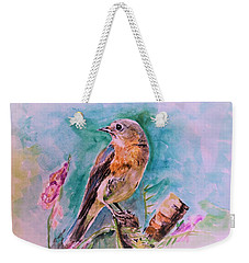 American Blue Bird Weekender Tote Bag