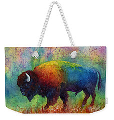 American Buffalo 6 Weekender Tote Bag by Hailey E Herrera