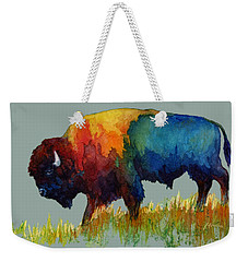 American Buffalo IIi Weekender Tote Bag by Hailey E Herrera