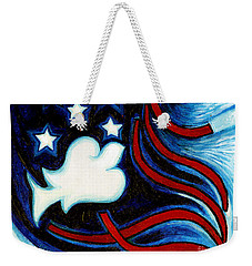 Weekender Tote Bag featuring the painting American Dove by Genevieve Esson