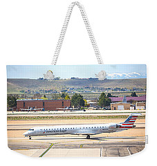 Weekender Tote Bag featuring the photograph American Eagle Boi by Dart Humeston