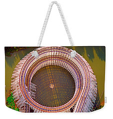 Weekender Tote Bag featuring the photograph American Eagle Roller Coaster  by Tom Jelen