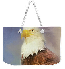 Weekender Tote Bag featuring the painting American Eagle by Steven Richardson