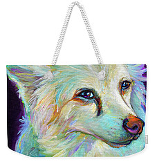 American Eskimo Weekender Tote Bag by Robert Phelps