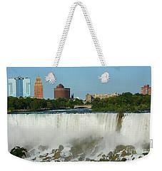 American Falls With Bridal Veil Weekender Tote Bag