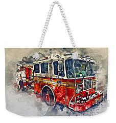 American Fire Truck Weekender Tote Bag