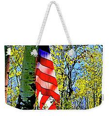 American Flag A Veteran Hunters Homage Weekender Tote Bag