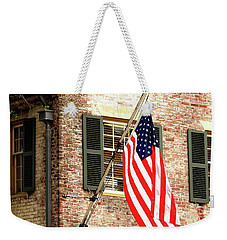 American Flag In Colonial Williamsburg Weekender Tote Bag