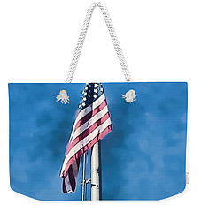 American Flag 'painted' Weekender Tote Bag