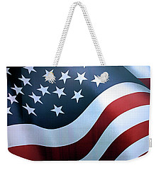 Weekender Tote Bag featuring the photograph American Flag by Kristin Elmquist