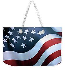 American Flag Weekender Tote Bag by Kristin Elmquist