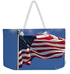Weekender Tote Bag featuring the photograph American Flag by Tara Lynn
