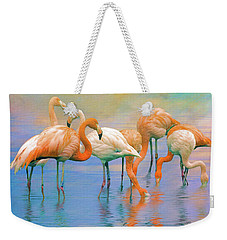 Weekender Tote Bag featuring the photograph American Flamingos by Brian Tarr