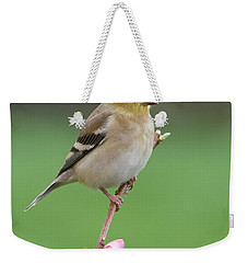 Weekender Tote Bag featuring the photograph American Goldfinch by Doug Herr