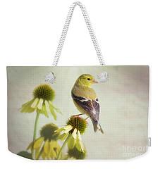 American Goldfinch On Coneflower Weekender Tote Bag