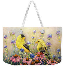 American Goldfinch Pair Weekender Tote Bag