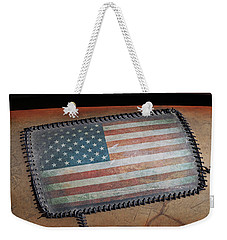 Weekender Tote Bag featuring the photograph American Leather by Christopher McKenzie