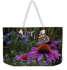 American Painted Lady On Cone Flower Weekender Tote Bag