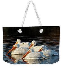 American Pelicans - 03 Weekender Tote Bag by Rob Graham