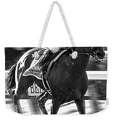 American Pharoah And Victor Espinoza Win The 2015 Belmont Stakes Weekender Tote Bag