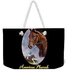American Pharoah Framed Weekender Tote Bag