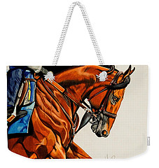 American Pharoah - Triple Crown Winner In White Weekender Tote Bag