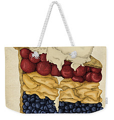 Weekender Tote Bag featuring the drawing American Pie by Meg Shearer