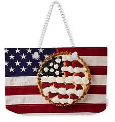 American Pie On American Flag  Weekender Tote Bag by Garry Gay