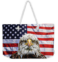 Weekender Tote Bag featuring the photograph American Pride by Scott Carruthers