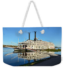 American Queen Steamboat Reflections On The Mississippi River Weekender Tote Bag