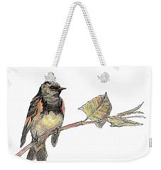American Redstart Weekender Tote Bag