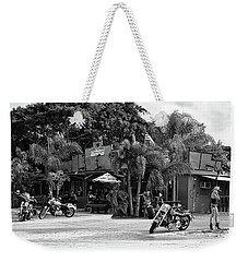 Weekender Tote Bag featuring the photograph American Roadhouse Bw by Laura Fasulo