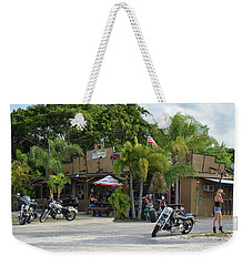 Weekender Tote Bag featuring the photograph American Roadhouse by Laura Fasulo