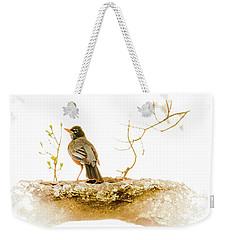 American Robin In Spring Weekender Tote Bag