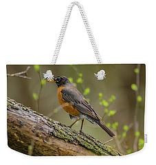 American Robin Weekender Tote Bag by Ray Congrove