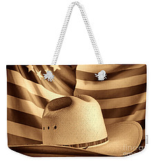 American Rodeo Cowboy Hat Weekender Tote Bag by American West Legend By Olivier Le Queinec