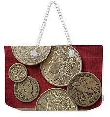 American Silver Coins Weekender Tote Bag by Randy Steele