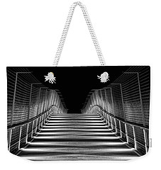 Weekender Tote Bag featuring the photograph American Tobacco Trail Bridge  by Ben Shields