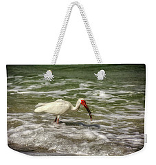 Weekender Tote Bag featuring the photograph American White Ibis by Chrystal Mimbs
