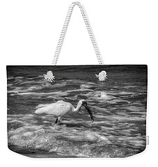 American White Ibis In Black And White Weekender Tote Bag