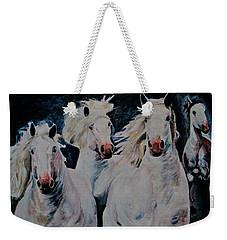 American White Weekender Tote Bag by Khalid Saeed
