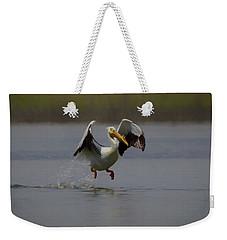 American White Pelican Da 2 Weekender Tote Bag by Ernie Echols