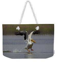 American White Pelican Da 3 Weekender Tote Bag by Ernie Echols