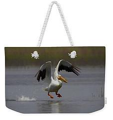 American White Pelican Da 4 Weekender Tote Bag by Ernie Echols